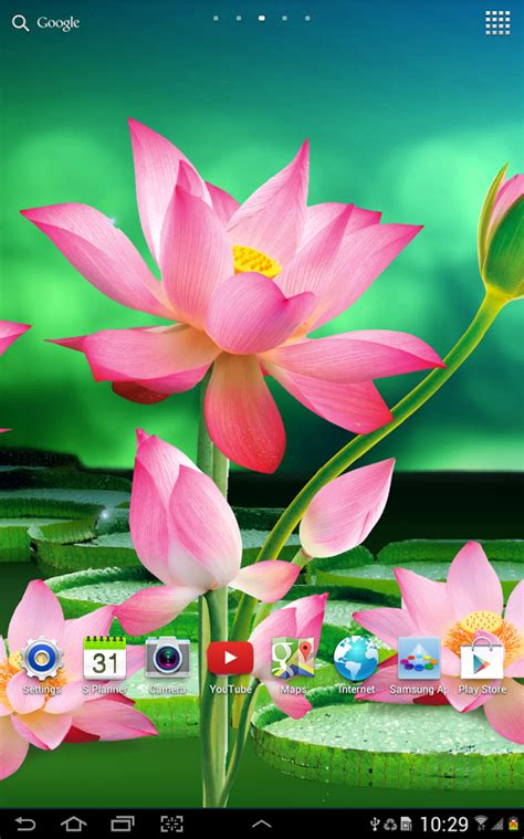 lotus live wallpaper android apps on play