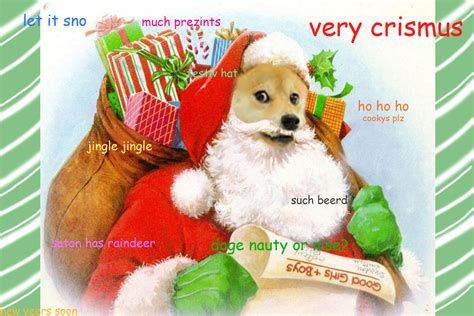 Doge Meme Christmas - santa doge by scarletaddendum on deviantart