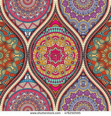 Vintage Poster 60x40cm Motif Kayu 53 seamless pattern tile with mandalas vintage decorative elements background islam