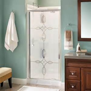 pivot shower door home depot delta phoebe 36 in x 66 in semi frameless pivot shower