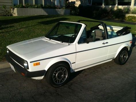 purchase used extremely clean ca owned rust free 1986 volkswagen cabriolet rabbit convertible in