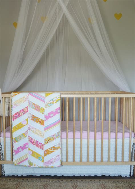 No Crib For A Bed Sew An Easy Ruffled Crib Dust Ruffle The Diy