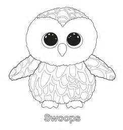 beanie boo coloring pages swoops the owl ty beanie boo ty beanie boos