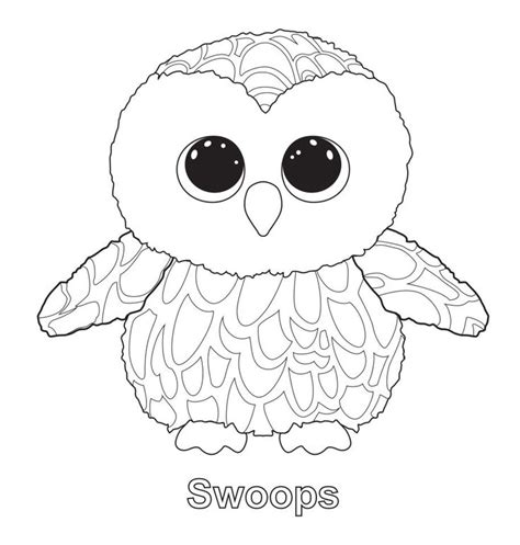 swoops the owl ty beanie boo ty beanie boos pinterest