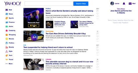 all images displayed on the home page of this website are yahoo updates its homepage and mobile app to display