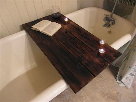 bathtub wood caddy custom made reclaimed wood bathtub caddy by