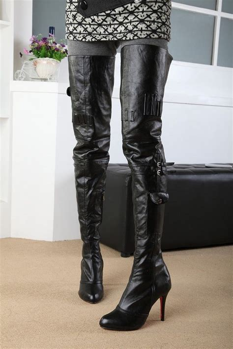 high motorcycle boots thigh high boots women yu boots