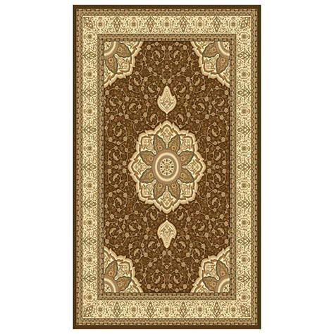 Cheap Area Rugs 6x9 6x9 Donnieann 174 Elegance Area Rug Brown 215396 Rugs At Sportsman S Guide