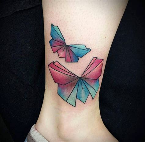 Origami Tattoos - 61 beautiful origami inspired designs tattooblend