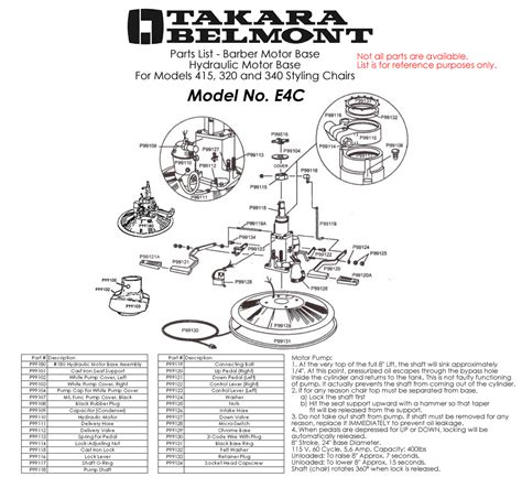 Belmont Barber Chair Parts takara belmont chair parts