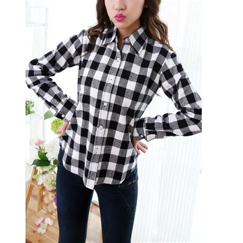Jaket Korean Hoodie 15 Grayscale Size Xxxl sale white black checkered plaid shirt sleeve cotton casual students checked