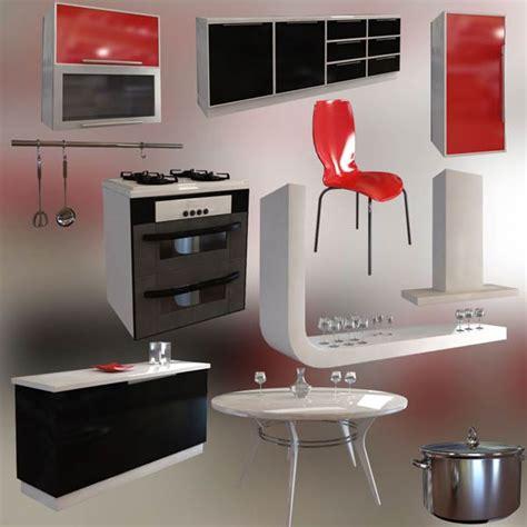 3d model kitchen set kitchen set p4 3d model hum3d
