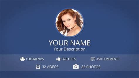 templates after effects facebook facebook profile intro