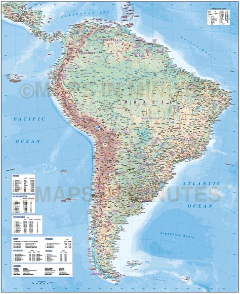 america map oceans digital vector south america map deluxe political road
