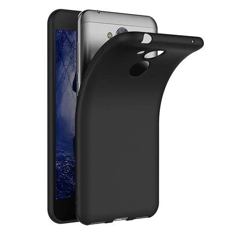 Softcase Armor Bumper Matte Silikon Back Tpu Huawei P9 Lite d 252 nn silikon handy h 252 lle schwarz matt schutz cover