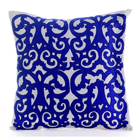 18x18 Throw Pillows by White And Blue Decorative Pillow Covers 18x18 Sofa Pillows