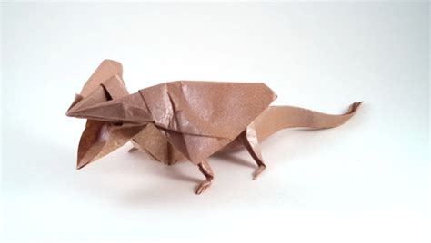 Origami Lizard Diagram - origami frill necked lizards gilad s origami page