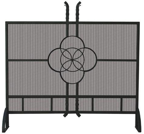 39 single panel olde world iron celtic fireplace screen
