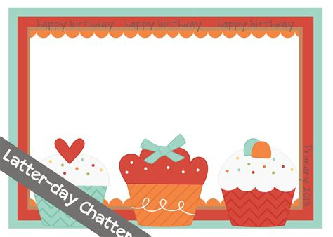 bday card templates latter day chatter primary 2013 birthday card template