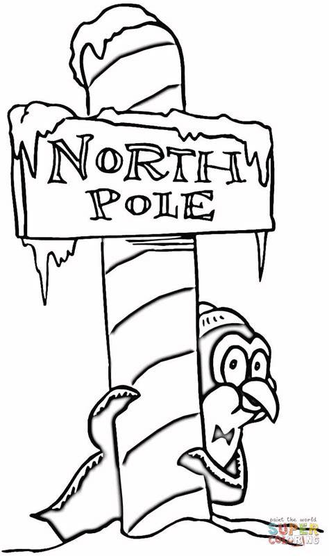 christmas north pole coloring page free printable