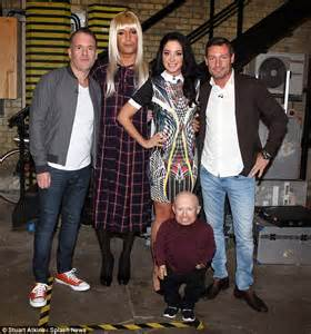 celebrity juice line up tulisa contostavlos shows off legs in minidress for