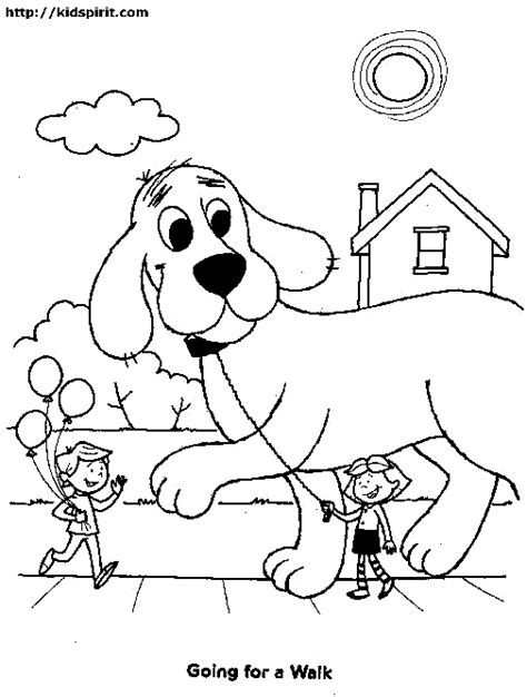 clifford the big red dog coloring pages pertaining to
