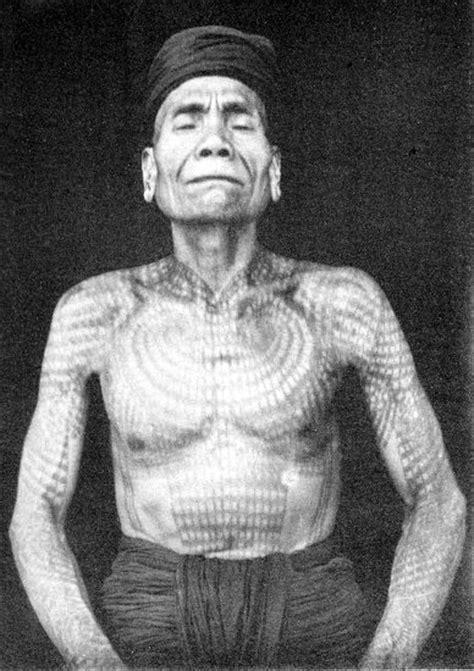 tattoo history documentary early photos of tribal tattoos in borneo