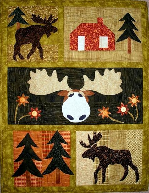 Moose Quilt by Moose Crossing By Pgpeddler Quilting Pattern