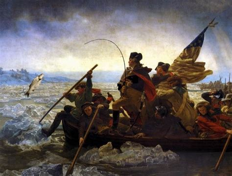 george washington painting boat shad surge in the delaware river thanks to pollution controls
