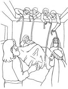 jesus heals the paralytic coloring page
