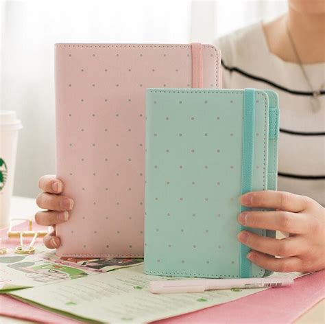 Diary A6 Spiral Whenzhang 21150 01 light color classic my my diy diary a5 a6 spiral spiral journal lines squared dots to
