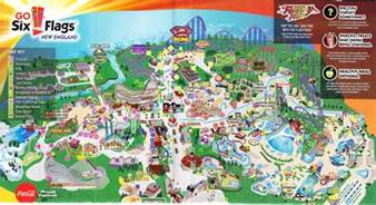 six flags new 2013 park map