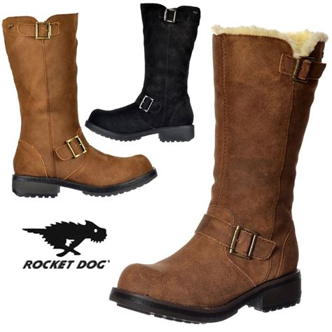 womens black leather biker boots womens rocket knockout mid calf biker boot leather