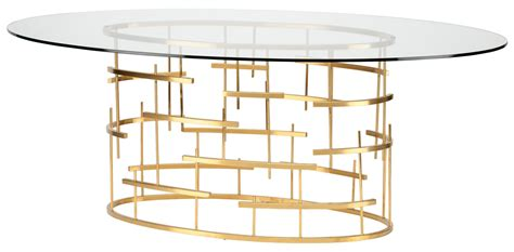 glass and gold dining table oval clear glass and gold metal dining table from
