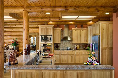 log home kitchen design log home photos poplar bluff home tour expedition log