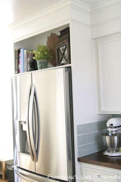diy refrigerator enclosure kitchen remodel home