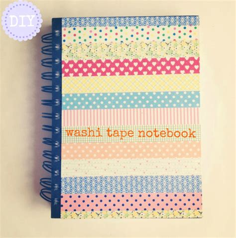 diy washi diy washi tape notebooks burkatron