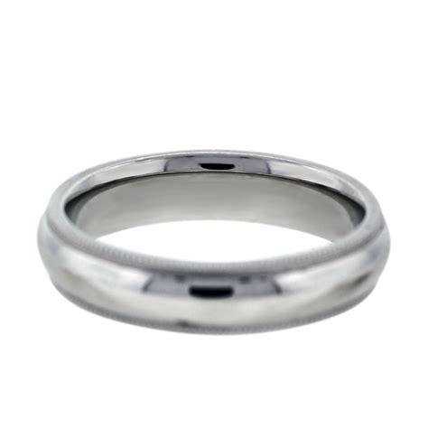 white gold milgrain mens wedding band ring boca raton