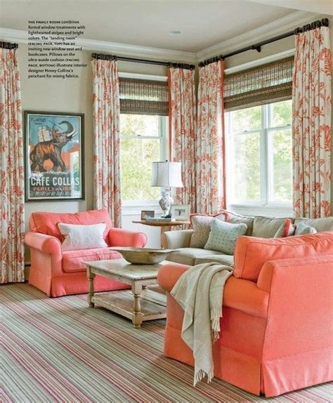 coral color room family room in coral color indoor spaces
