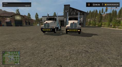 ls and lights kenworth t600 oversize load and led lights fs 17 farming