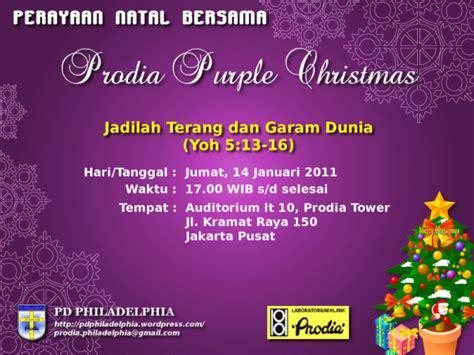 undangan perayaan natal bersama 2010 pd philadelphia prodia