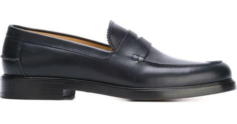 apc loafers a p c loafer in blue for lyst