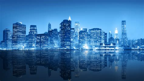 blue nyc 2560x1440 new york city blue skyline wallpaper