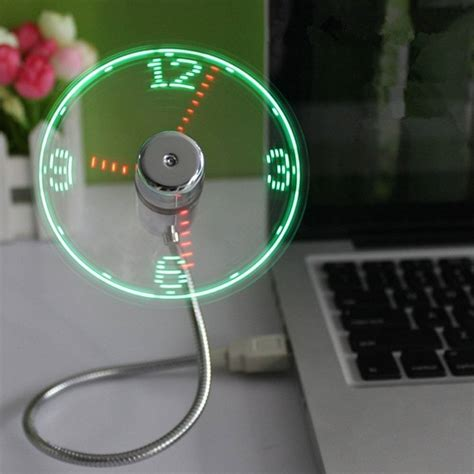 Usb Led Clock Fan led usb fan clock 187 gadget flow