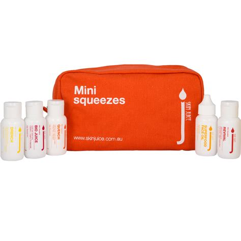 mini settee skin juice mini squeezes refillable travel set dry