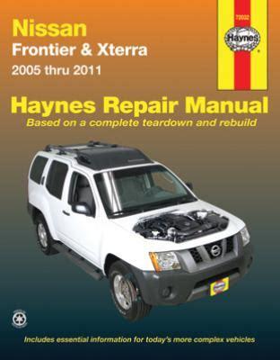 free car repair manuals 1999 nissan frontier windshield wipe control nissan frontier and xterra haynes repair manual 2005 2011 hay72032