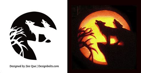 pumpkin stencils wolf www pixshark com images