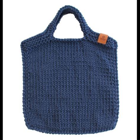 Bag Serut B 117 large knitted bag b117 blue catnessdesign