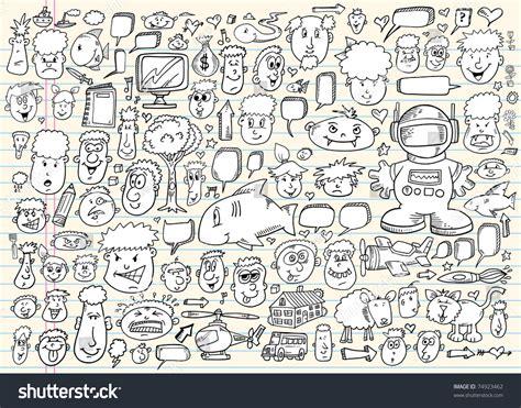 doodle speech free vector notebook doodle sketch speech design elements mega
