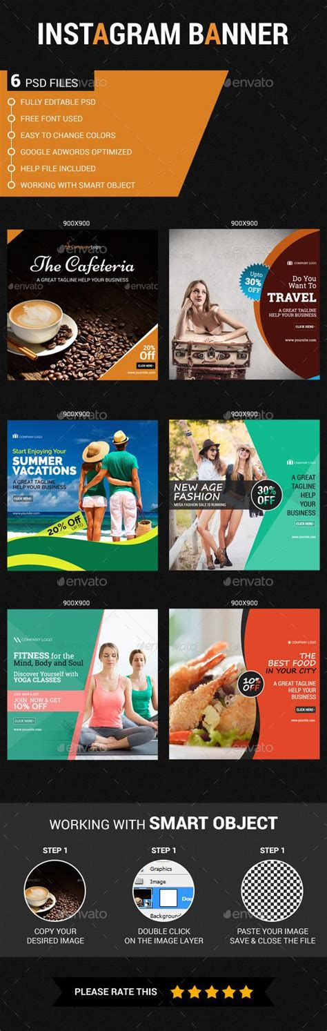 banner design envato 101 best instagram cover images on pinterest web banners